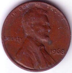 USD 1968 1 Cent