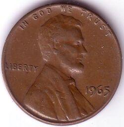 USD 1965 1 Cent
