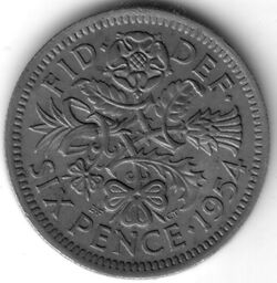 GBP 1954 6 Penny