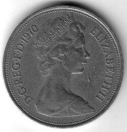 GBP 1970 10 Pence