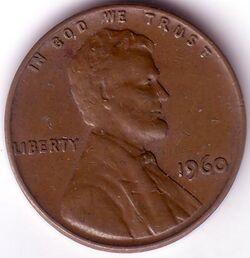 USD 1960 1 Cent