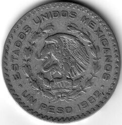 MXN 1962 1 Peso