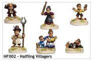 HF002 Halfling Villagers