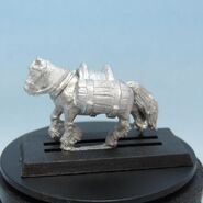 Bood Pony with barrels left side
