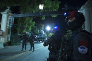Only Homeland Security forces are allowed outside during curfew