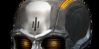 Silver Robot Skull