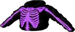 Purple Skeleton Vest