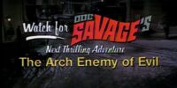 DC COMICS: First Wave (Doc Savage The Arch Enemy of Evil)