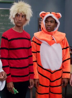 Troy and Abed as Calvin and Hobbes