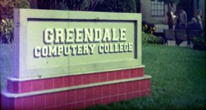 Greendale Computery College sign