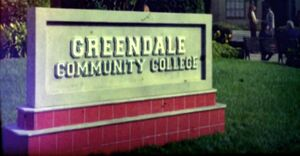 Greendale Community College sign