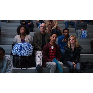 The study group watches in the audience.