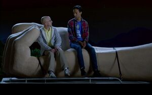 6x10 Abed and Pelton join the grand hand on the RV roof