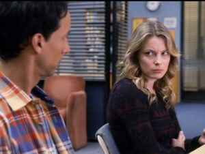 Britta is angry at Abed