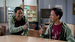 Abed time travels back to change Abed's mind