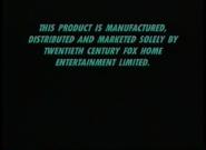20th Century Fox Home Entertainment 1999-2005 Warning Screen (S2)