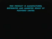 Fox Video Warning Scroll 1995 (S2)