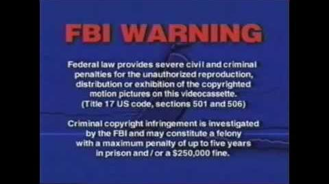 FBI Warnings and Anchor Bay Entertainment logo