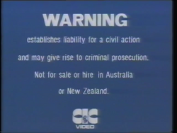 First CIC Video warning screen (second variant (4))