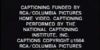 RCA/Columbia Pictures Home Video Closed Captioned ID