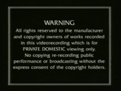 Thames Video 1991 Warning Screen