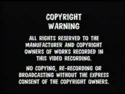 Lollipop Video Warning Screen