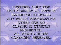 Third Paramount Home Entertainment warning screen