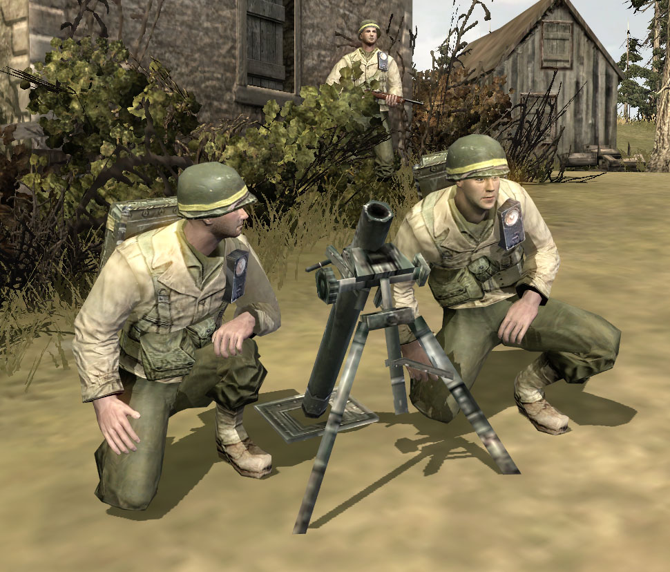 U S Army Heavy Mortar Platoon : M mm mortar team company of heroes wiki fandom