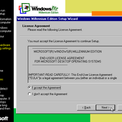 The 2nd part of the Windows ME setup