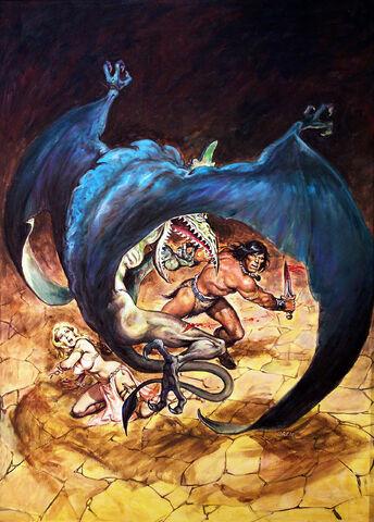 File:-21 agosto 1977 . El horror de la Torre Roja. Guión de Roy Thomas, lápices de John Buscema, tintas de Sonny Trinidad..jpg