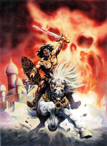 File:-8 diciembre 1975The Forever ampolla. Guión de Roy Thomas, el arte de Tim Conrad. La muerte-canción de Conan el cimmerio. Poema de Lin Carter (adaptada por Thomas).jpg