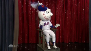 The Queens College Mr. Met in an Electric Chair 1
