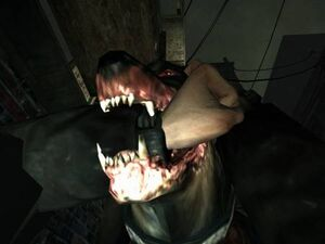 Condemned2 dog with arm