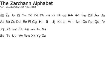 Zarchann Alphabet
