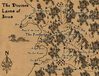 The Divided Lands of Jerus Map