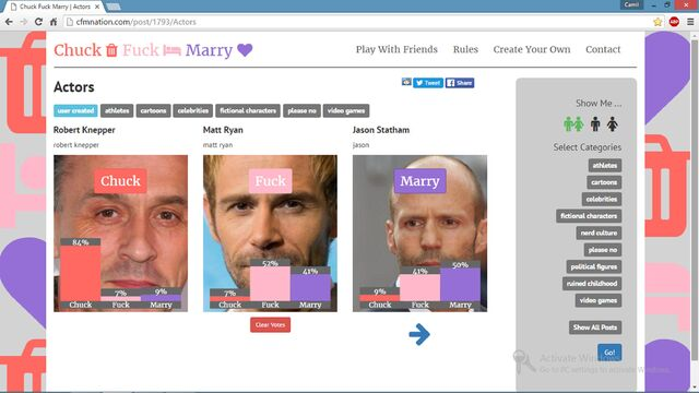 File:Jason Statham,Robert Knepper,Matt Ryan chuck fuck marry.JPG