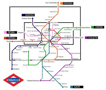 Metro Carnoa, Antaria