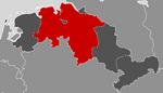 Location of German Lower Saxony