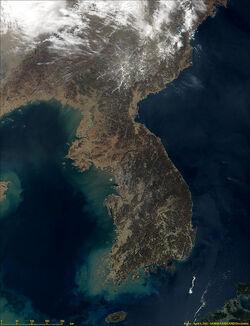 Korea satellite image