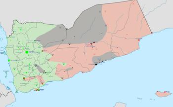 Yemen war detailed map