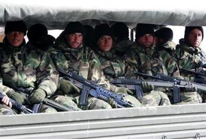 Tawhidi troops during transport