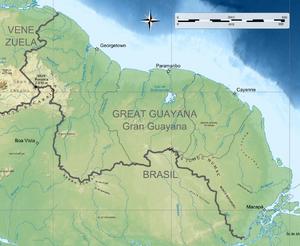 República de la Gran Guayana topografico