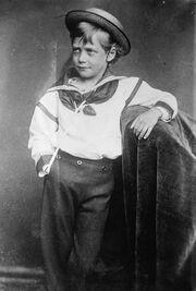 The King of Alton as a boy