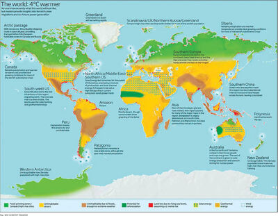 Cliame change map