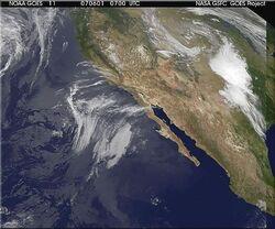 Satellite image of Sierra
