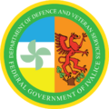Seal of the Ivalician Department of Defence and Veteran Services.png