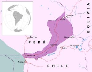 Mapa de Mar de Bolivia