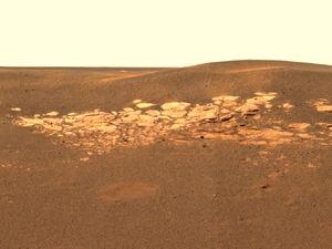 Photo of mars taken by Vulcan 6 in 1998