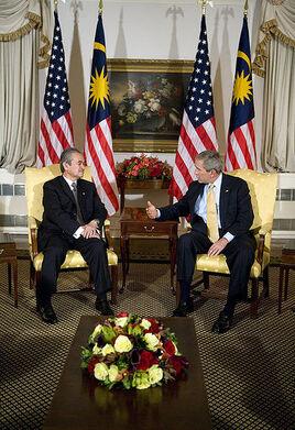 411px-Abdullah Badawi with George Bush September 18, 2006