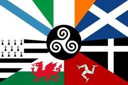 Combined flag of the Celtic nations